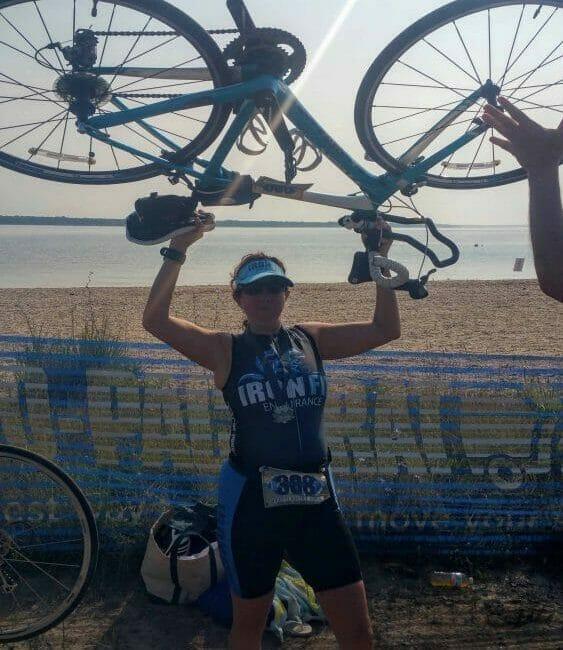 Holding up my bike