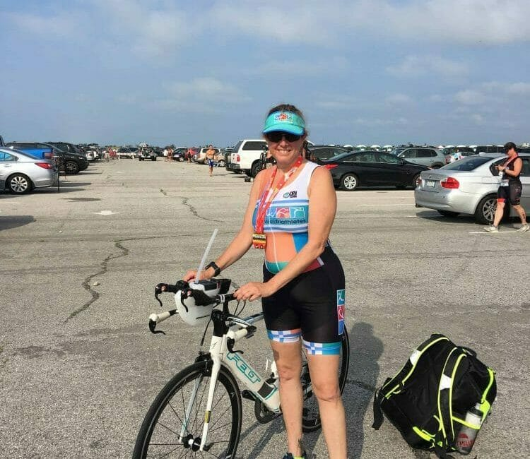 Hilary Topper at Smithpoint Triathlon