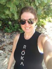 Hilary Topper wearing a Roka Swim Skin