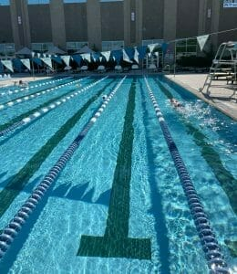 outdoor pool at Lifetime Fitness