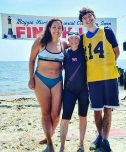 katie, Derek and me at the finish line