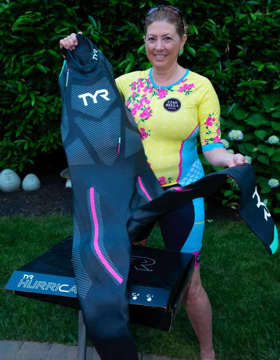 Front of the TYR Cat 5 wetsuit
